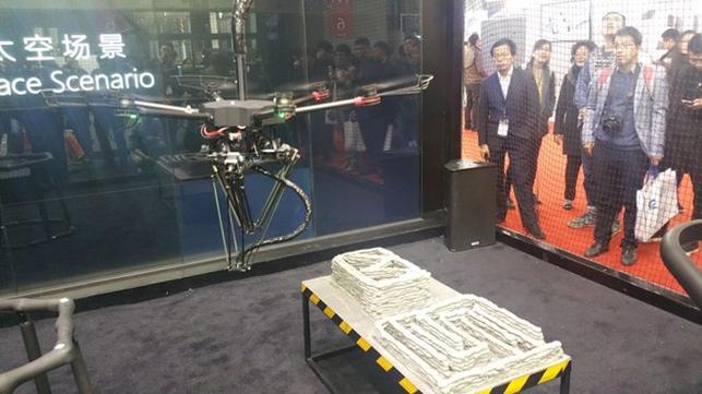 Flying 3D printer at TCT Asia