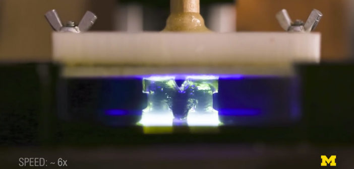 University of Michigan researchers found the key to 100 times faster SLA printing process